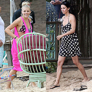 Pictures of Bikini-Clad Busy Philipps on the Cougar Town Set With Courteney Cox