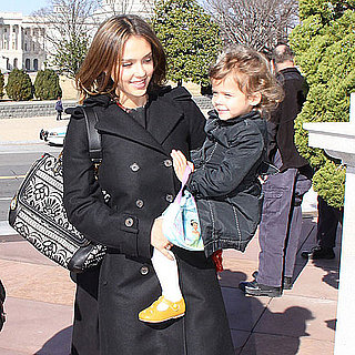Pictures of Jessica Alba and Honor at Michelle Obama Reading Event