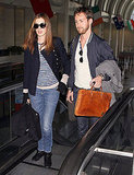 Anne Hathaway Leaves LA With Her Man Following a Weekend With Oscar