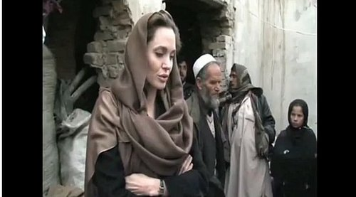 Video of Angelina Jolie in Afghanistan