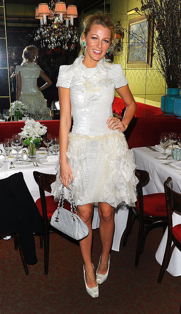 Blake Lively Dresses Up to Get Toasted by Chanel