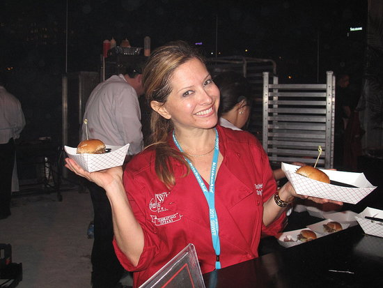 Ingrid Hoffman didn't take home a prize at the Burger Bash, but she was sporting an award-winning smile, anyway.