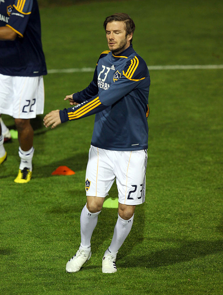 David Beckham Reenters the Galaxy With a Close Game