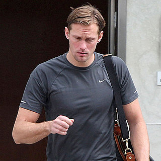 Pictures of Alexander Skarsgard at the Gym
