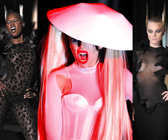 Peep Lady Gaga's Purr-fect Catwalk Debut at Mugler's Fall 2011 Show