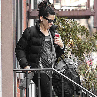 Pictures of Sandra Bullock Leaving NYC Apartment
