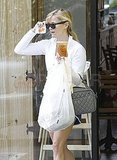 Reese Runs Out For a Drink in Her Running Shorts as She Steams Up a New Trailer With Rob