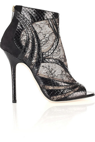 On Our Covet List: Jimmy Choo Lace and Snakeskin Heels