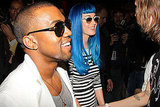 Katy Perry, Her Blue Wig, and Kanye West Catch Up on Fashion in France