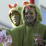 Heidi Klum and Seal wore costumes for a Carnival event in Germany in February 2005.