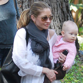 Pictures of Rebecca Gayheart and Billie in LA
