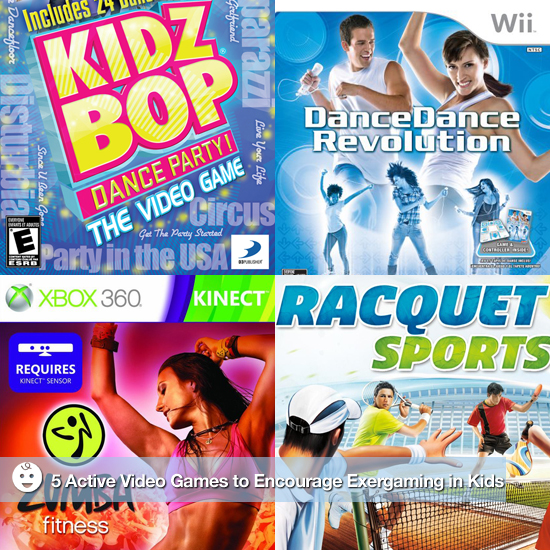 5 Active Video Games to Encourage Exergaming in Kids