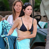 Courteney Cox was on the Hawaiian set of Cougar Town in a bikini in March 2011.