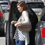 Jessica Alba Reveals Her Big Baby Bump on a Day of Shopping in LA!