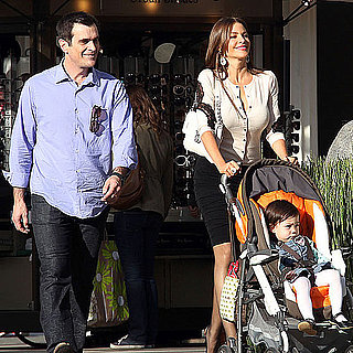 Pictures of Sofia Vergara and Ty Burrell Filming Modern Family