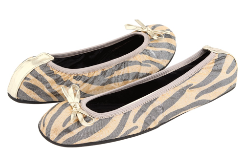 Gabrielle Rocha Flat ($38, originally $49) Why: We love the nude and gray animal print; it is so sophisticated. This is a great staple for the closet.