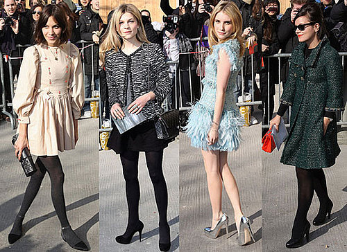 Pictures of Celebrities at 2011 Autumn Winter Chanel Show Including Lily Allen, Alexa Chung, Florence Welch, Emma Roberts