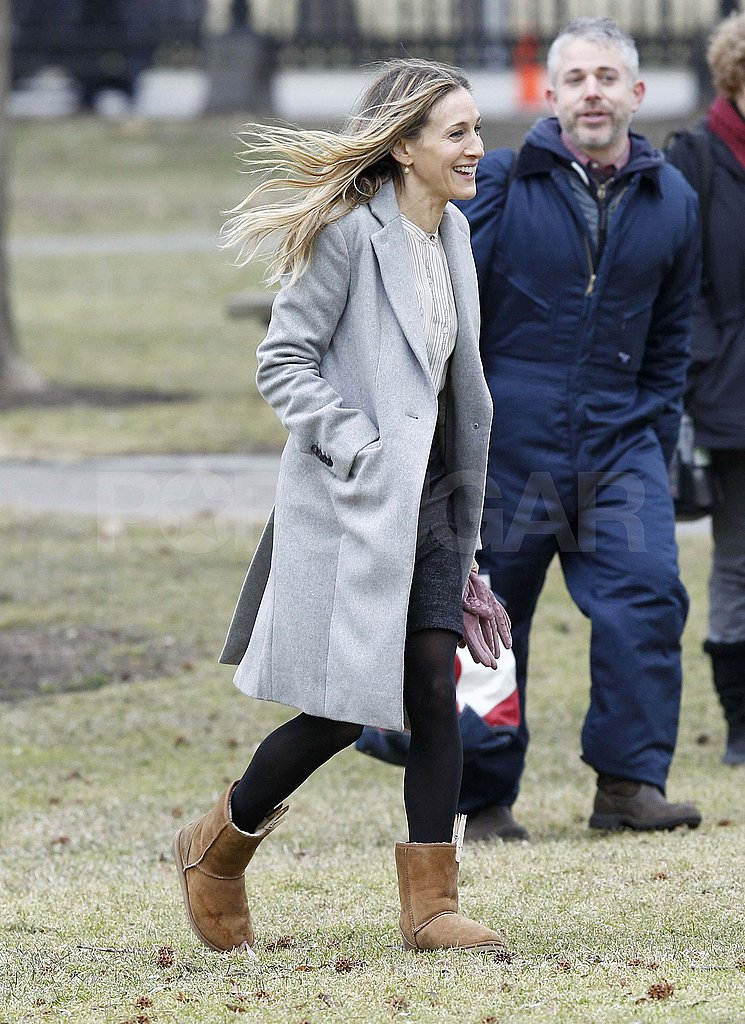 SJP Gets a Taste of Boston While She's in Town For Work