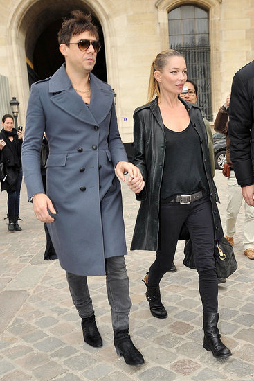 Kate Moss and Jamie Hince Hold Hands After Her Return to the Catwalk