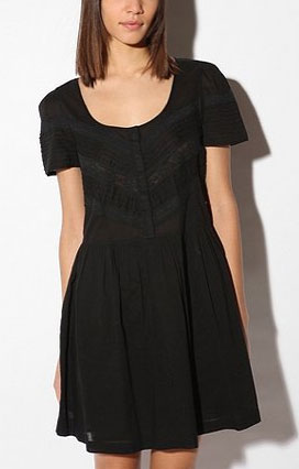If you're going to wear black in Spring, we recommend that it have pretty details like this one's sweet lace insets. Kimichi Blue Embellished Pleat Dress ($59)