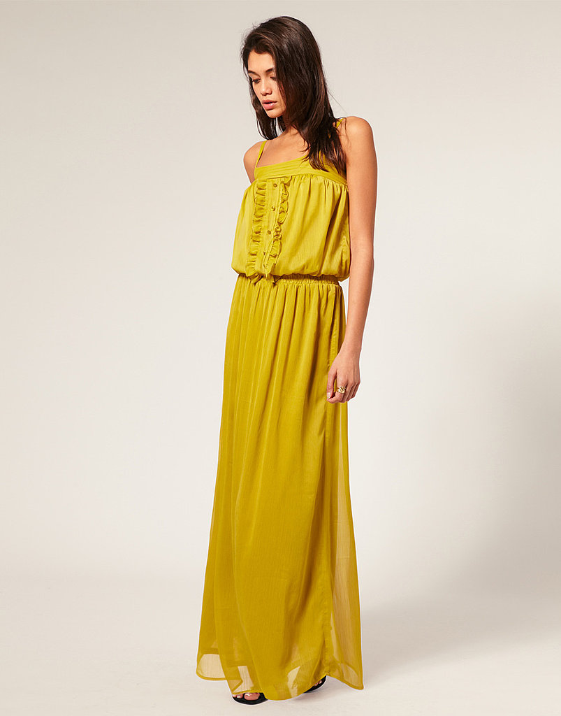 Besides the gorgeous color, we love that you could play this dressed up for date night or casual enough to run errands.  ASOS Skinny Strap Chiffon Maxi Dress ($90)