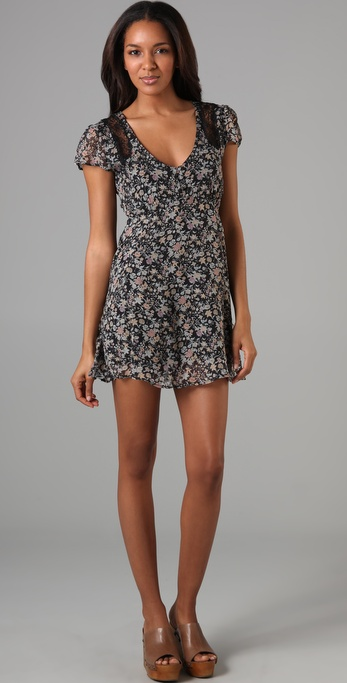 This little mini could take you from day to night with a great pair of wedges.  Winter Kate Goldfield Floral Dress ($275)