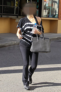 Picture of Celebrity Leaving Gym With Hermes Birkin Bag and Fiji Water