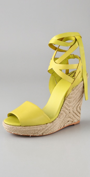 This Diane von Furstenberg Pandora Wedge ($255) is ideal for Summer weddings and park strolls.