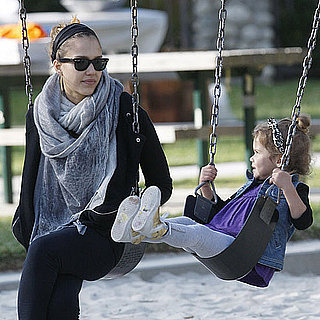 Pictures of Pregnant Jessica Alba and Honor at the Park