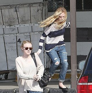 Pictures of Elle and Dakota Fanning Leaving an LA Passport Office Together