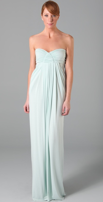 The kind of easy-sexy, no-fuss bridesmaid look every girl in the wedding party hopes for.  Rachel Pally Long Fortuna Dress ($246)