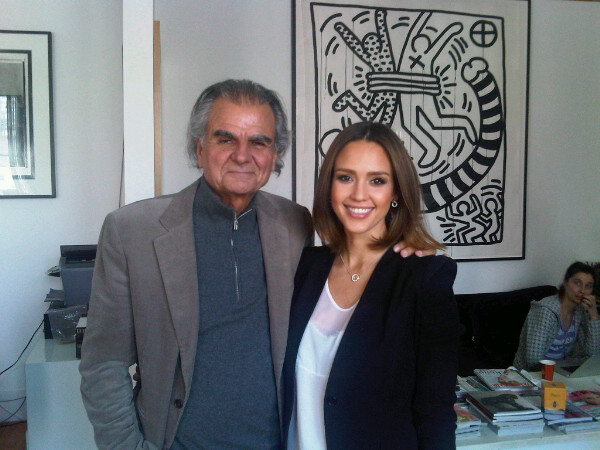 Jessica Alba prepped for a photo shoot with Patrick Demarchelier.