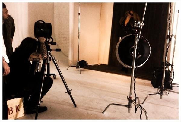 Nicole Richie snapped a behind-the-scenes glimpse of the Winter Kate Fall '11 lookbook shoot.