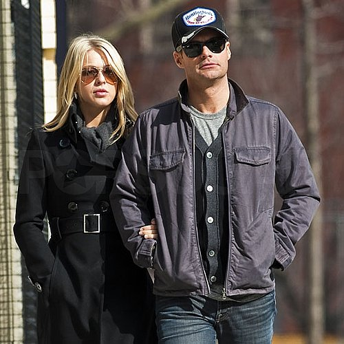Pictures of Ryan Seacrest Shooting New Year's Eve and Walking in NYC With Julianne Hough