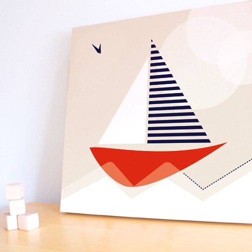 Small Sail Boat Canvas