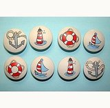 Hand-Painted Nautical Drawer Pulls