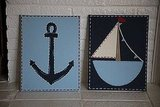 Sailboat and Anchor Print Set