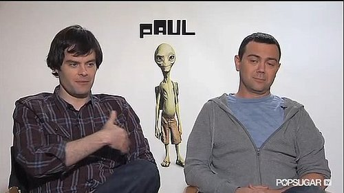 Video of Paul Stars Bill Hader and Joe Lo Truglio Chatting Seth Rogen, Beer Bongs, and Jennifer Aniston