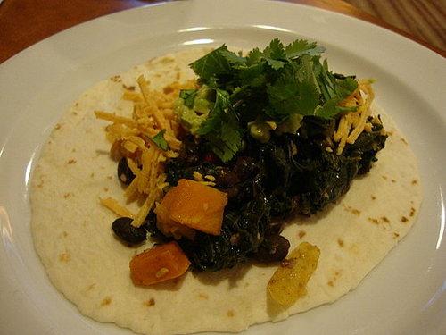 Sweet Potato, Kale & Black Bean Fajitas