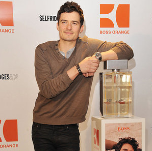 Pictures of Orlando Bloom Promoting Hugo Boss in London