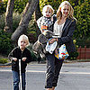 Pictures of Naomi Watts, Samuel Schreiber, and Sasha Schreiber on a Walk in Their LA Neighborhood