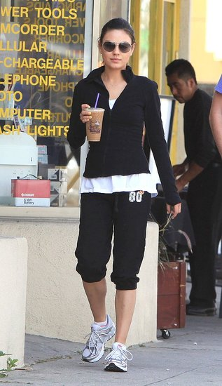 Mila Kunis Benefits From a Workout and Satisfies Her Coffee Craving