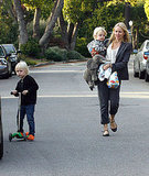 Naomi, Sasha, and Samuel Scoot Out For a Stroll