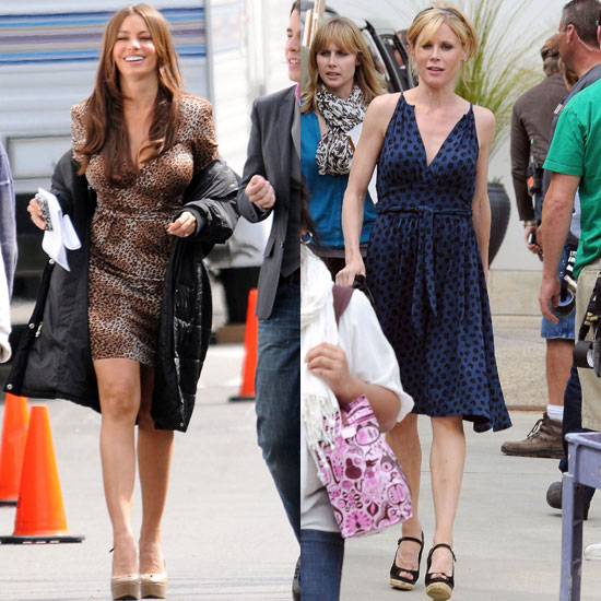 Sofia Vergara Has a Day on Set With Julie Bowen and Her Main Man Manolo
