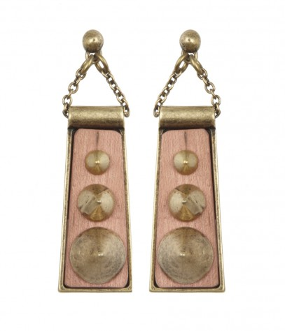 We love the antique feel these plate-like earrings project, something almost Egyptian; we'd add them to sleek black maxidress.  Asea Stud Earrings ($50)