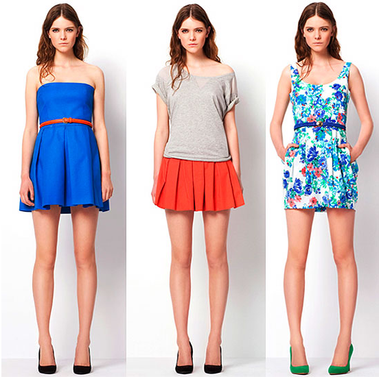 Zara showed us how to work bright colors in its TRF color dress lookbook.