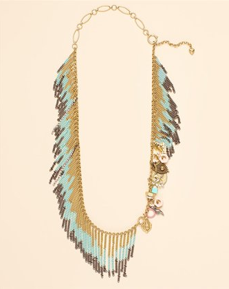 The fringe makes this necklace fabulous; the fact that it's really two pieces in one makes it one of the smartest, prettiest pieces to own this season. Juicy Couture Wanderlust Drama Fringe Necklace and Bracelet ($198)