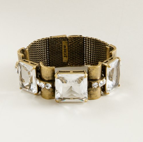 The best of both worlds: mesh gives it a utilitarian feel that gets a dose of glam via major sparkle. Hopscotch Mesh Bracelet ($65)