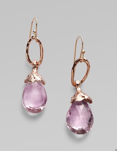 Beautifully composed — everything from the delicate drop to the sweet purple hue. Alexis Bittar Amethyst Drop Earrings ($185)