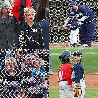 Pictures of Britney Spears, Jason Trawick, and Kevin Federine at Sean Preston's Baseball Game